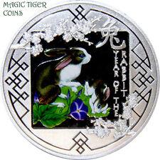 "2011 Rwanda ""Year of the Rabbit"" Spring Silver Proof Coin, rare!"