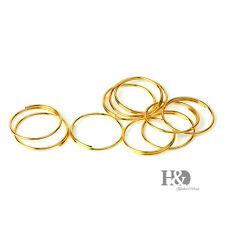 500 Gold Metal Ring Connectors Chandelier Lamp Light Crystal Prisms Part 11mm