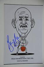 George Gervin-Iceman #44 spurs nba signed 20x30cm foto autógrafo Autograph