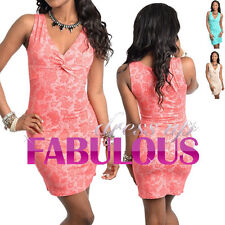 NEW SEXY WOMEN'S FLORAL MINI DRESS Size 6-12 HOT PARTY CLUBBING EVENING CLOTHING