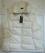 Tommy Hilfiger Cream Down Feather Filled Zip Pock Full Zip Puffy Vest XXL NWT