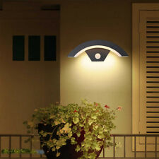 More details for outdoor led wall light pir sensor waterproof hallway stairs night lamp 12w