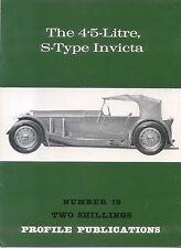 Invicta S Type 4.5 Litre Profile Publication Number 19 12 page colour booklet