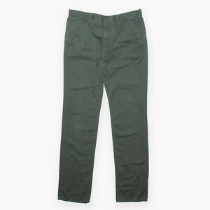 TIMBERLAND Green Regular Straight Cotton Woven Trousers Mens W32 L34