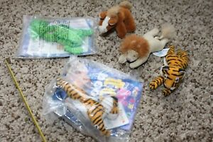 Lot of 5 plush mini animal alley stuffed animals stuffies ToysRUs McDonalds