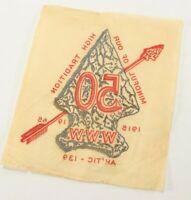 Vintage 1965 Order Arrow WWW 50 Year Ann Transfer Patch Boy Scout of America BSA