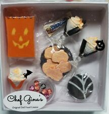 Barbie or Gene Size Halloween Party Box Set Realistic Mini Food 1/6th scale #12
