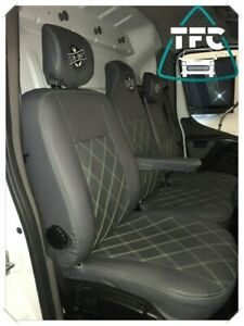 Renault Master SEAT COVERS FULL ECO LEATHER Bentley Stitching 3 Logos Seats 2+1
