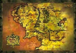 Lord of the Rings Poster Middle Earth Map 91.5x61cm
