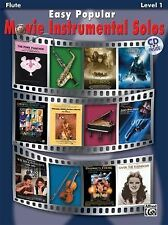 EASY POPULAR MOVIE INSTRUMENTAL SOLOS, FLUTE - ALFRED PUBLISHING (COR) - NEW PAP