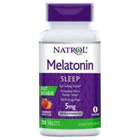 Natrol Melatonin 5mg Fast Dissolve Tablets - Strawberry 250 Tablets!  Exp: 07/22