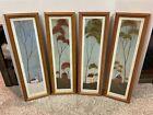 WARREN KIMBLE FOUR SEASONS FOLK ART Summer Fall Winter Spring Framed Art Prints