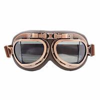 Fumé lentille Lunettes de Moto Vintage soleil Casque Pilote Protection Goggles