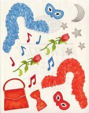 NEW Creative Memories BLOCK STICKER - Cruise Sticker - Boa Mask Music Bow Tie Ba