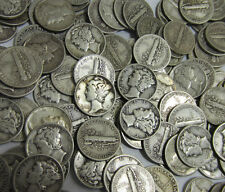 (1) Mixed Mercury Dime // 1920's-1940's // 90% Silver Coin