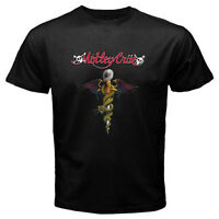 New MOTLEY CRUE Rock Band Logo Music Legend Men's Black T-Shirt Size S to 3XL