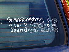 Static Cling Window Car Sign/Decal Grandchildren 3 Kids 100mm x 250mm 16