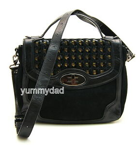 MIMCO MUGHAL LEATHER SATCHEL BAG IN BLACK BNWT RRP$450