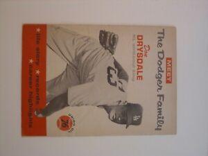 Vintage 1960 Union Oil 76 Meet The Dodger Family booklet DON DRYSDALE