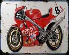 Honda Rc30 Fogarty A4 métal signe Moto Vintage Aged