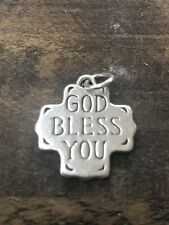 James Avery Retired Silver God Bless You Charm