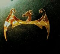Luthier Guitar Pickguard Headstock DIE-CUT Decal Norse Dragon 0.4% Gold Leaf 2""