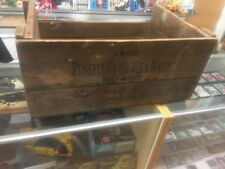ANTIQUE RUSSELL - BURDSALL and WARD BOLT & EMPIRE NUT CO LARGE WOOD CRATE