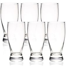 6x 330ml Clear Beer Lager Beverage Drink Glasses Cups English Pub Mug Bar Pack