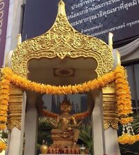 TRADITIONAL MARIGOLD GARLAND FLOWERS WORSHIP NECKLACE MUAY THAI AMULET TALISMAN