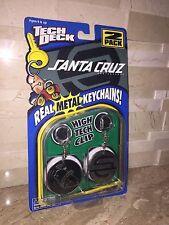 TECH DECK SANTA CRUZ SKATEBOARDS REAL METAL KEYCHAIN 2 PACK