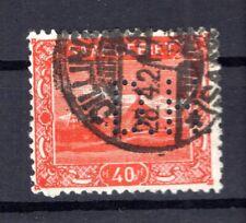 Saar Firmenlochung Perfin D.H : (B8834