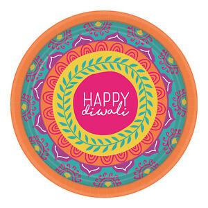 8 x Diwali Paper Party Plates 18cm