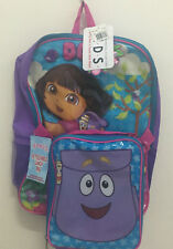 """NEW! DORA THE EXPLORER 16"""" KIDS GIRLS BACKPACK WITH DETACHABLE LUNCH BAG SALE"""