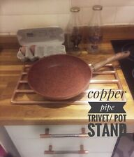 Handmade Copper pipe pan trivet/stand  Large