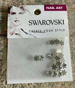 18 PCS Sizes 5mm Swarovski Flatback nail art Stones Silver Snowflakes Free Ship