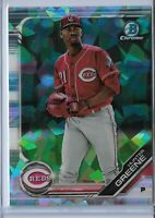 2019 Bowman Chrome Atomic Refractor Parallel Hunter Greene Cincinnati Reds SP