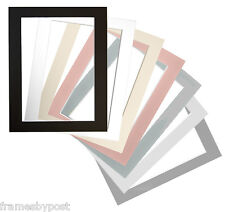10 Picture & Photo Frame bevel edge Mounts in 7 Colours & FREE P&P NOT A FRAME