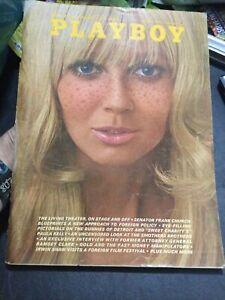 Vintage August 1969 Playboy Magazine EX. Condition Debbie Hooper Centerfold