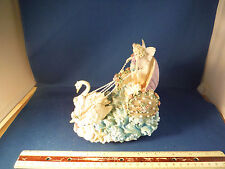 """Rainbow Visions Fairy's Delicate Swan Chariot """"Once Upon A Dream"""" Music Box"""