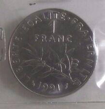 1 franc semeuse 1991 : SPL : pièce de monnaie française