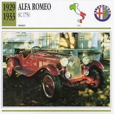 1929-1933 ALFA ROMEO 6C 1750 Sports Classic Car Photo/Info Maxi Card