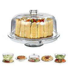 Clear Acrylic Multifunctional Cake Stand Platter Fruit  Snacks Cake Plate