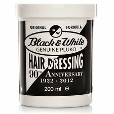 BLACK & WHITE GENUINE PLUKO HAIR DRESSING POMADE / HAIR WAX 200ml