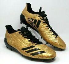 Adidas Size 15 Adizero Football Cleats Gold Snakeskin Black Stripes Men NEW