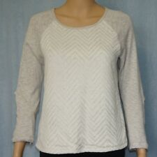 TEMT  Women's Knit Top, Size S, Oatmeal, Ladies Size 8-10, Long Sleeve, Jumper