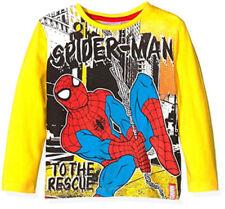 Vêtements jaune à manches longues pour garçon de 2 à 16 ans en 100% coton