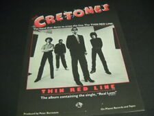 The CRETONES dare to cross THE THIN RED LINE 1980 Promo Poster Ad mint condition