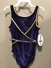New With Tags Adult Small Tank Satara Purple Leo With Rhinestones In Front
