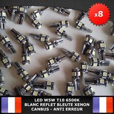8 Veilleuses LED W5W T10 Canbus ANTI ERREUR ODB 6500k XENON 5 SMD voiture moto