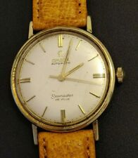 Vintage Omega Seamaster De Ville Automatic Mens Watch Gold Capped works